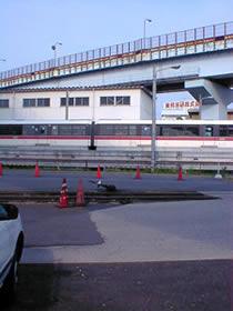 モノレールの車庫