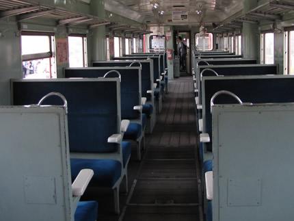 ひたちなか海浜鉄道キハ車内