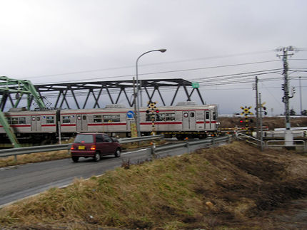 長野電鉄3000村山橋