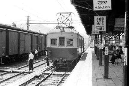 長野電鉄須坂駅400系