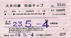 大井川鉄道フリー切符