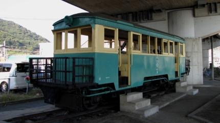 井笠鉄道 笠岡駅近く
