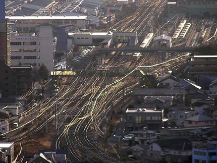 上から見た新前橋駅