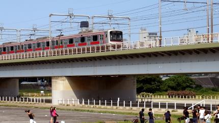 多摩川 丸子橋あたり