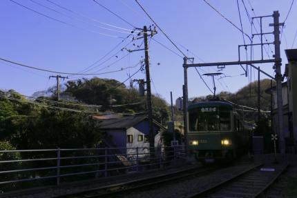 江ノ電 稲村ヶ崎