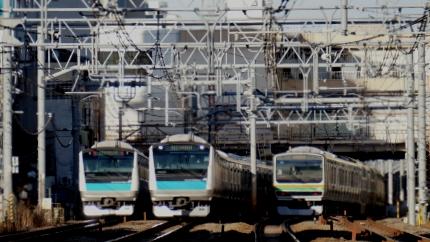 JR大森駅近くの踏切