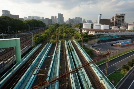 貨物線の線路