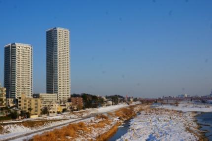 東急大井町線と田園都市線 雪の次の日
