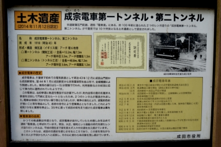 成宗電車トンネル跡