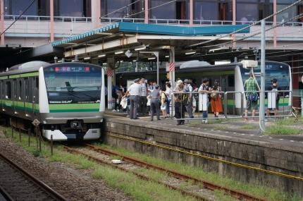 横浜線開業110年 横浜線小机駅