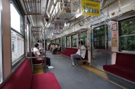 銚子電鉄3000系車内