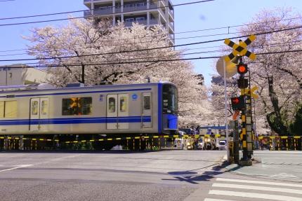 西武新宿線 中野通りの踏切