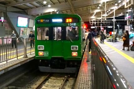 東急池上線 緑の電車