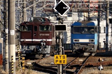 中央線八王子駅電気機関車
