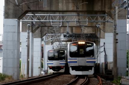 JR横須賀線 霜田踏切