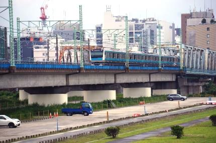 多摩川の京急と京浜東北線