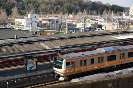 京王線ホームから中央線