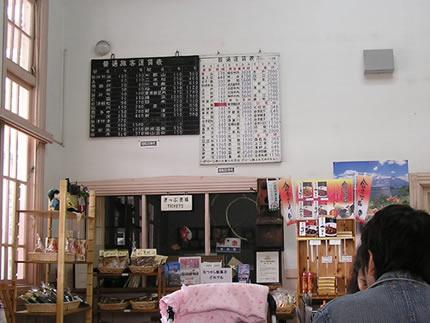 翁島駅舎内
