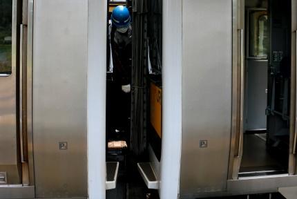 常陸大子駅で分割