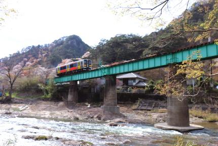矢祭山 久慈川をまたぐ橋梁