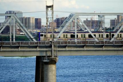 多摩川を渡る横須賀線