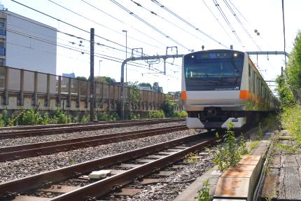 JR中央線信濃町付近
