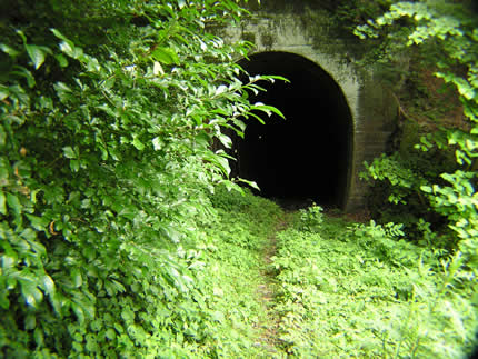 中山トンネル入り口