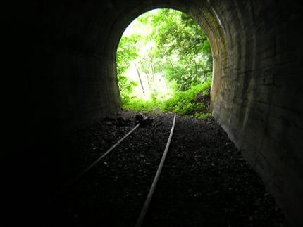 山中トンネル中から