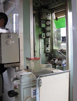 銚子電鉄1001運転室