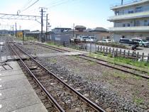 木更津駅ホームの跡